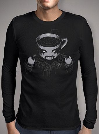 Мужская футболка с длинным рукавом Black Metal Coffee