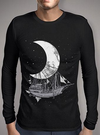 Мужская футболка с длинным рукавом Moon Ship