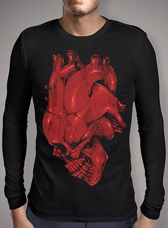 Мужская футболка с длинным рукавом Skull of Heart