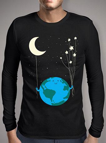 Мужская футболка с длинным рукавом Under the Moon and Stars
