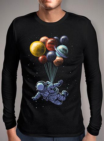 Мужская футболка с длинным рукавом Space Travel