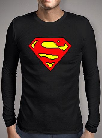 Мужская футболка с длинным рукавом 8-bit Superman Logo