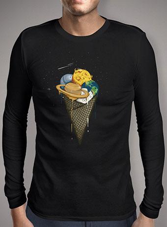 Мужская футболка с длинным рукавом Galactic Ice Cream