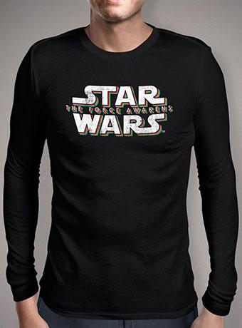 Мужская футболка с длинным рукавом Force Awakens Distressed Logo