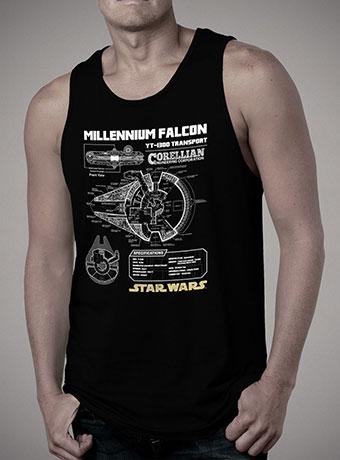 Мужская майка Millennium Falcon Schematic