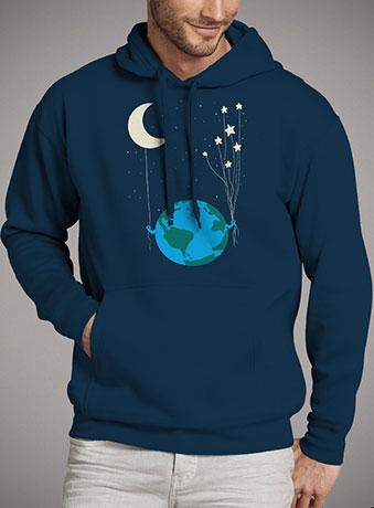 Мужская толстовка Under the Moon and Stars