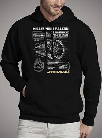 Мужская толстовка Millennium Falcon Schematic