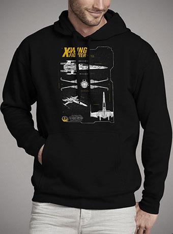 Мужская толстовка Resistance X-Wing Schematic