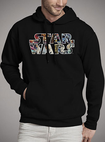 Мужская толстовка Star Wars Character Logo