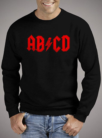 Мужской свитшот Abcd Rock