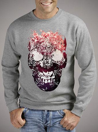 Мужской свитшот Floral Skull