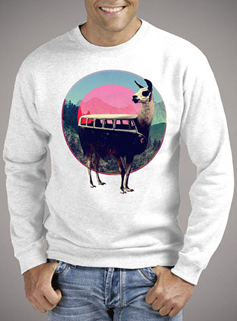 Мужской свитшот Llama
