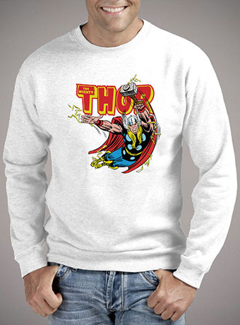 Мужской свитшот Thunder Struck Thor