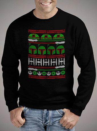 Мужской свитшот Boba Fett Christmas