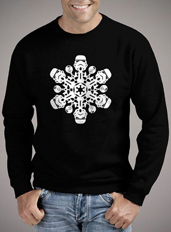 Мужской свитшот Stormtrooper Snowflake