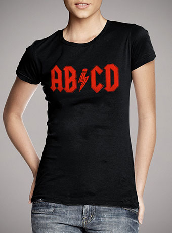 Женская футболка Abcd Rock