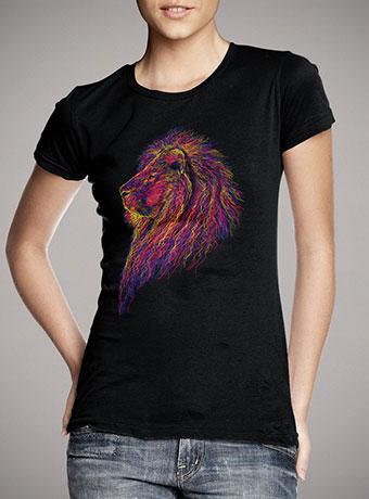 Женская футболка Lion Scribble