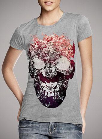 Женская футболка Floral Skull