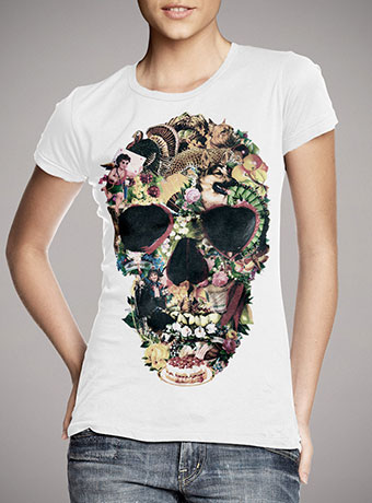 Женская футболка Vintage Skull
