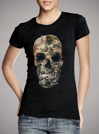 Женская футболка Skull Town