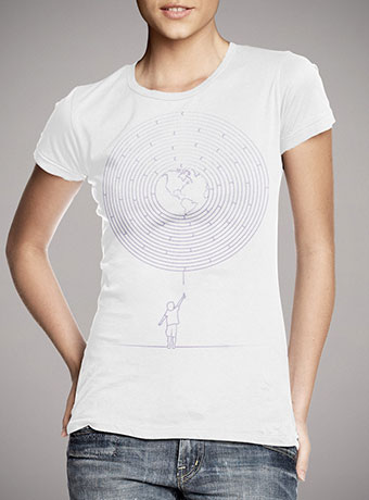 Женская футболка I Dream To Explore The World