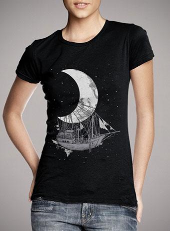 Женская футболка Moon Ship