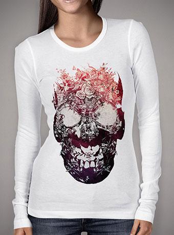 Женская футболка с длинным рукавом Floral Skull