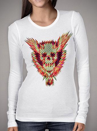 Женская футболка с длинным рукавом Geo Skull