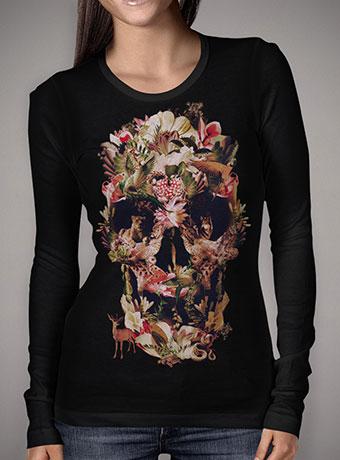 Женская футболка с длинным рукавом Jungle Skull