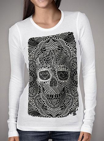 Женская футболка с длинным рукавом Lace Skull