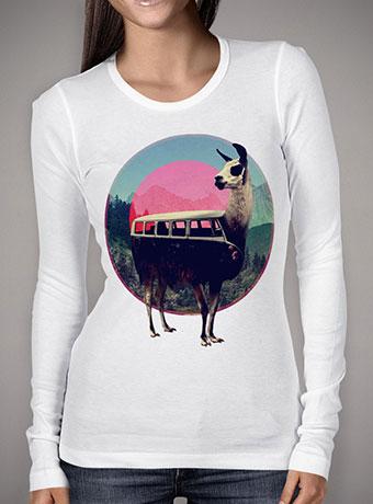 Женская футболка с длинным рукавом Llama