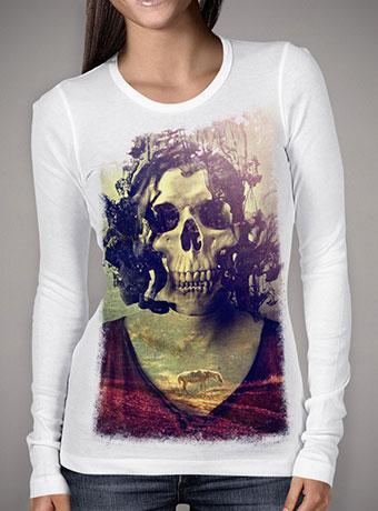 Женская футболка с длинным рукавом Miss Skull