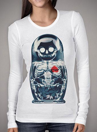 Женская футболка с длинным рукавом Nesting Doll X-Ray