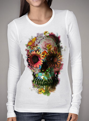 Женская футболка с длинным рукавом Skull 2