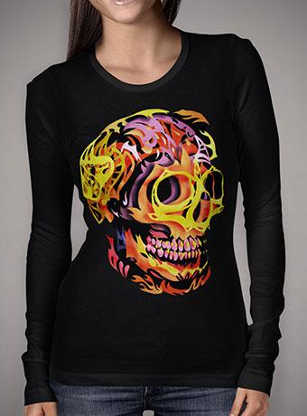 Женская футболка с длинным рукавом Skull V