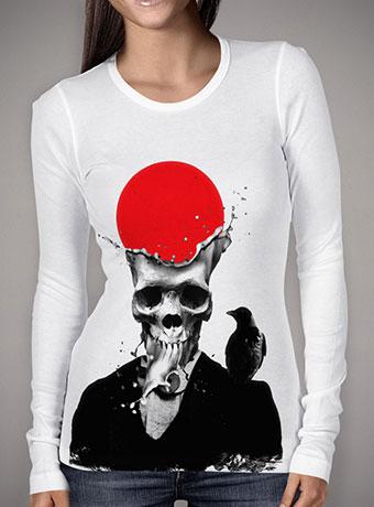 Женская футболка с длинным рукавом Splash Skull