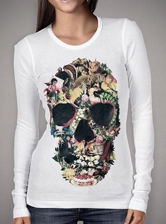 Женская футболка с длинным рукавом Vintage Skull