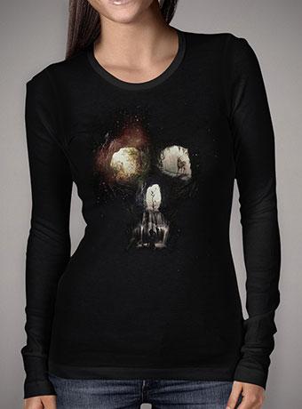 Женская футболка с длинным рукавом Cave Skull