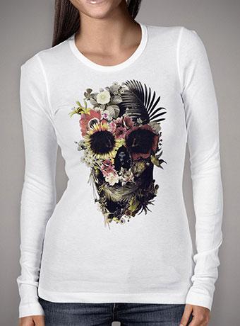 Женская футболка с длинным рукавом Garden Skull