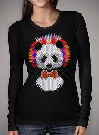 Женская футболка с длинным рукавом Panda 2