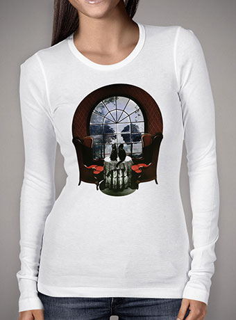 Женская футболка с длинным рукавом Room Skull