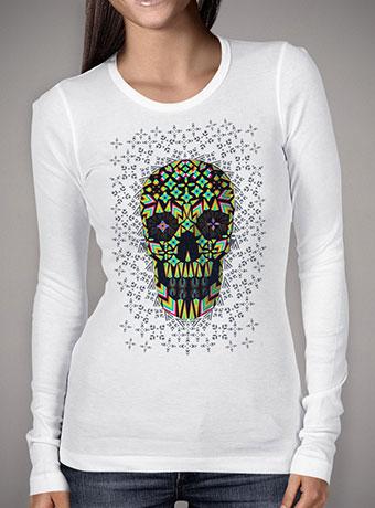 Женская футболка с длинным рукавом Skull 6