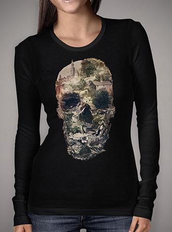 Женская футболка с длинным рукавом Skull Town