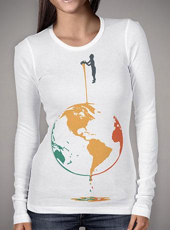 Женская футболка с длинным рукавом Fill Your World With Colors
