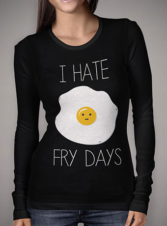Женская футболка с длинным рукавом I Hate Fridays