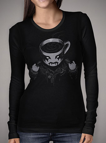 Женская футболка с длинным рукавом Black Metal Coffee
