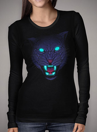 Женская футболка с длинным рукавом Electric Panther