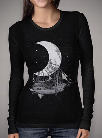 Женская футболка с длинным рукавом Moon Ship