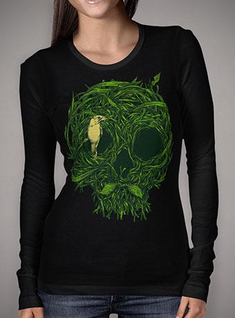 Женская футболка с длинным рукавом Skull Nest