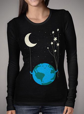 Женская футболка с длинным рукавом Under the Moon and Stars